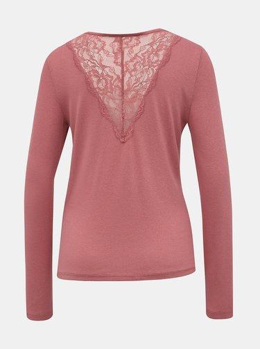 Rúžový ľahký sveter VERO MODA Birthe