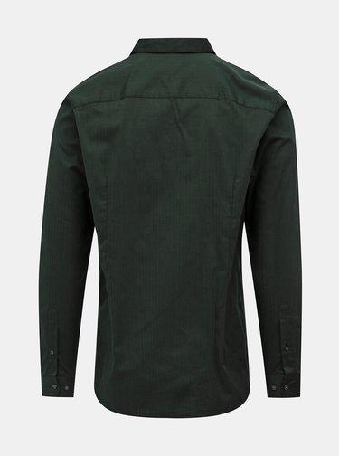 Tmavě zelená slim fit košile Jack & Jones Focus