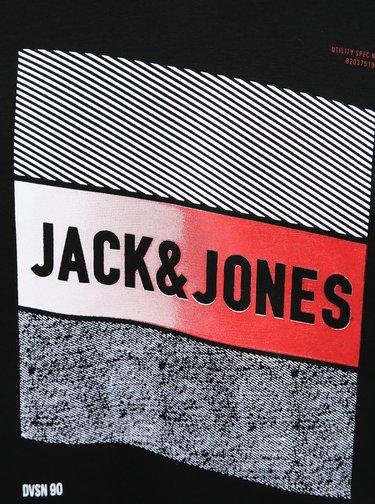 Černá mikina s potiskem Jack & Jones Booster