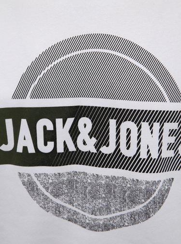 Bílá mikina s potiskem Jack & Jones Booster