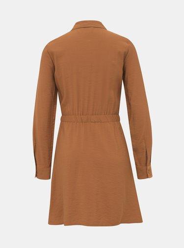 Hnedé košeľové šaty TALLY WEiJL