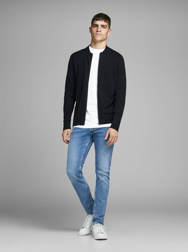 Bílé slim fit tričko Jack & Jones Booker