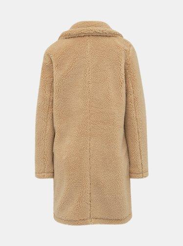 Svetlohnedý kabát z umelej kožušiny TALLY WEiJL