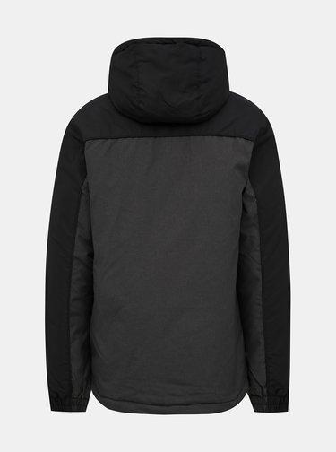 Tmavošedá pánska nepromokavá zimná bunda SAM 73