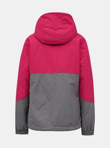 Růžovo-šedá dámská nepromokavá zimní bunda SAM 73