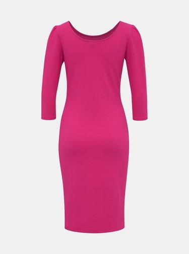 Růžové pouzdrové šaty Dorothy Perkins
