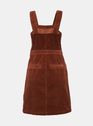 Hnedé menčestrové šaty Dorothy Perkins Pinny