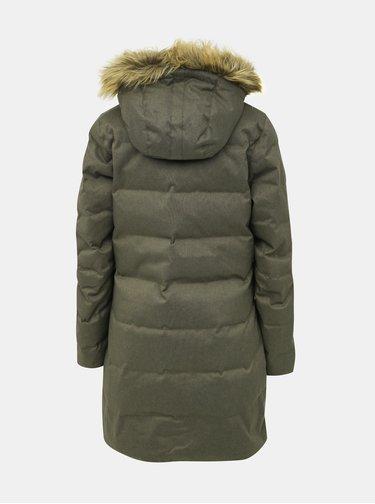 Khaki dámský prošívaný zimní kabát HELLY HANSEN Aden