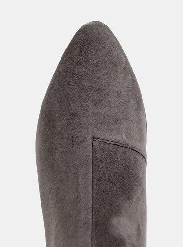 Šedé dámske semišové členkové topánky Geox Peython