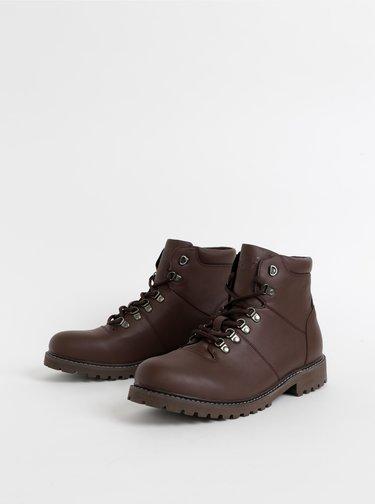 Hnědé kotníkové boty Jack & Jones Beta