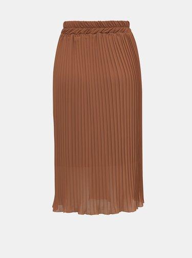 Hnedá plisovaná sukňa Haily´s Anaya