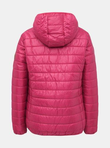 Rúžová dámska vodeodpudivá prešívaná bunda SAM 73