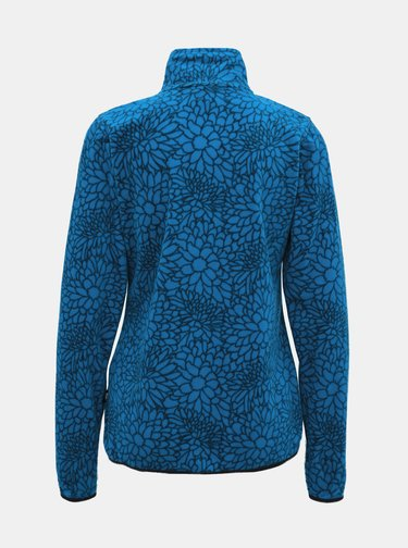Modrá dámská fleecová květovaná mikina SAM 73