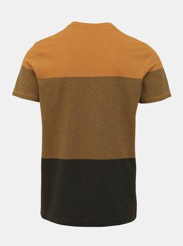 Khaki-žluté tričko Selected Homme Kevin