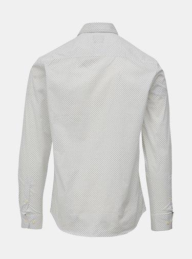 Biela vzorovaná slim fit košeľa Selected Homme Freddie