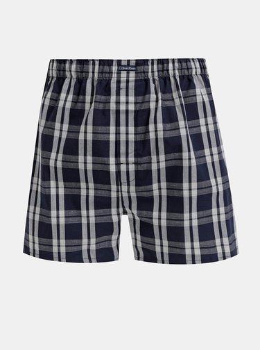 Sada troch modrých pánskych vzorovaných trenýrok Calvin Klein Underwear