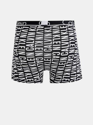 Čierne pánske vzorované boxerky Calvin Klein