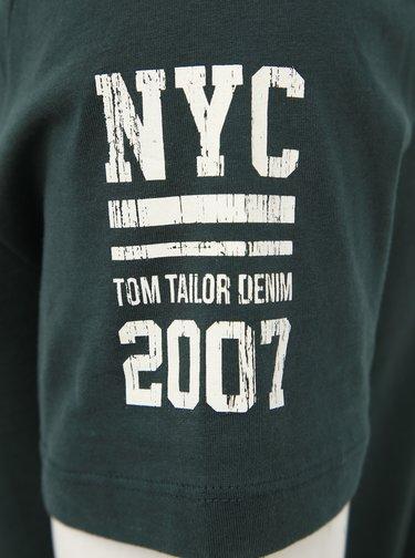 Tmavozelené pánske tričko Tom Tailor Denim