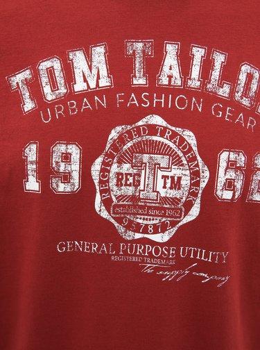 Červené pánské tričko Tom Tailor
