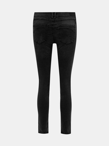 Tmavě šedé dámské zkrácené skinny fit džíny Tom Tailor Denim Jona