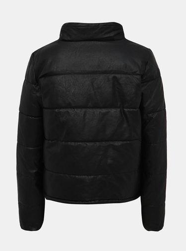 Černá koženková zimní bunda ONLY Shela