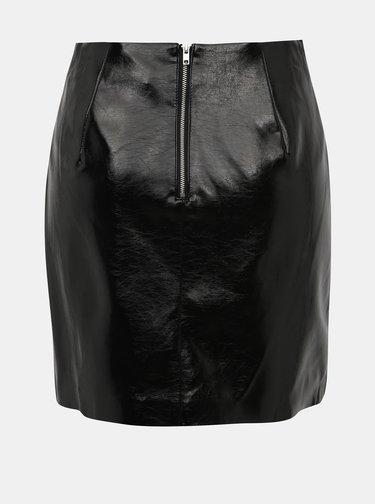 Čierna koženková sukňa ONLY Misty