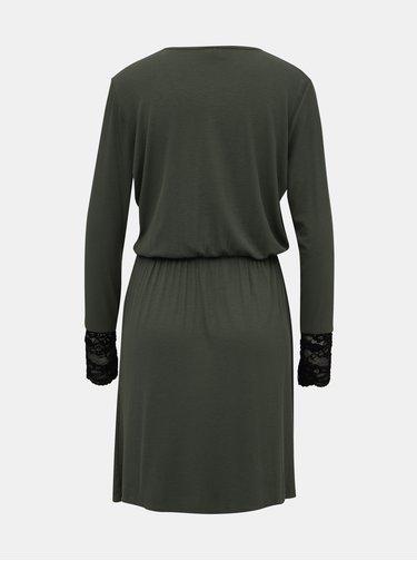 Zelené rebrované šaty Jacqueline de Yong Molly