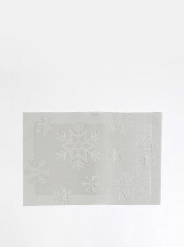 Světle šedé prostírání s vánočním motivem SIFCON
