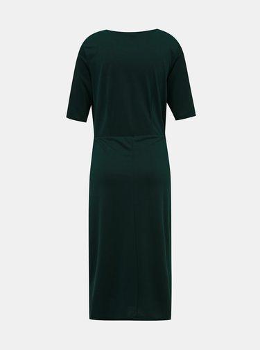 Tmavozelené midi šaty Selected Femme Amber