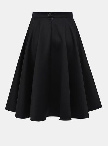 Tmavomodrá kruhová vlnená sukňa MONLEMON