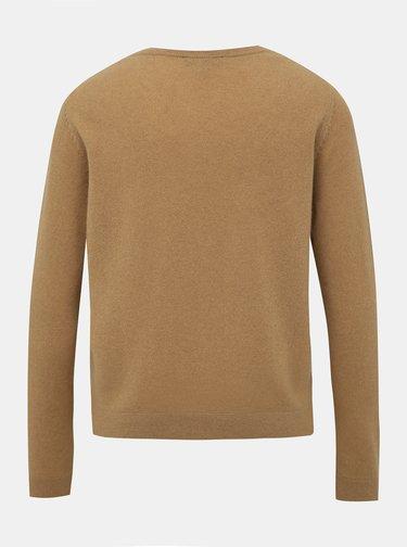 Béžový kašmírový svetr Selected Femme Aya