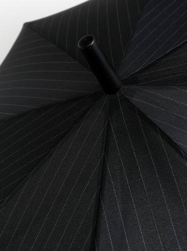 Čierny pruhovaný vystrelovací dáždnik Esprit Gents Long