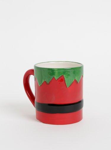 Červený hrnek s vánočním motivem SIFCON 450 ml