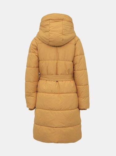 Hořčicový prošívaný zimní kabát VERO MODA Pilipamia