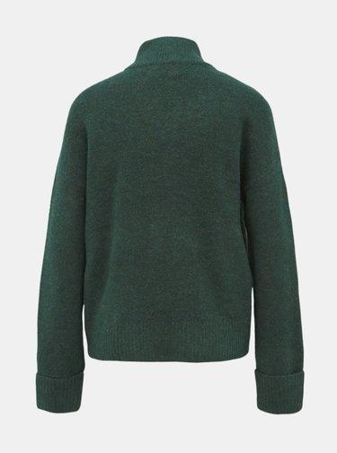 Tmavě zelený svetr VERO MODA Rana