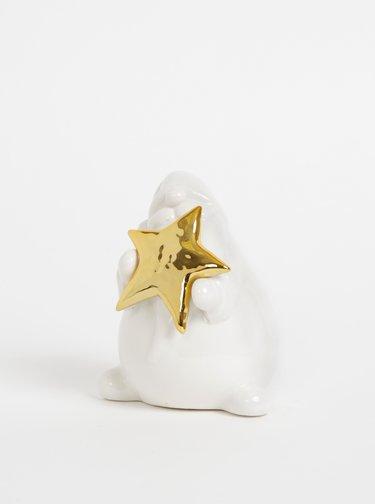 Bílá vánoční dekorace ve tvaru Santy SIFCON