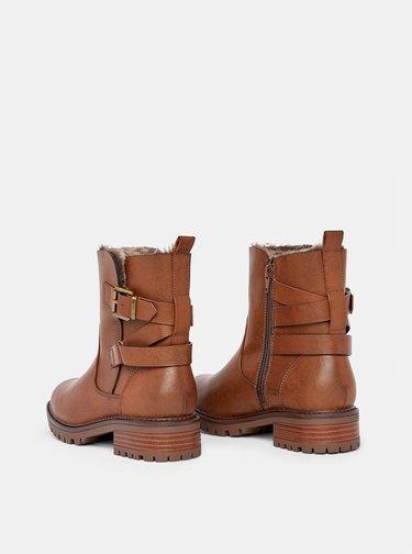 Hnědé kotníkové zimní boty Dorothy Perkins Aloha