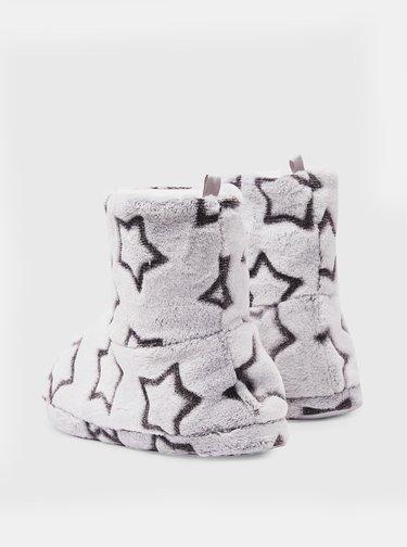 Světle šedé vzorované papuče Dorothy Perkins