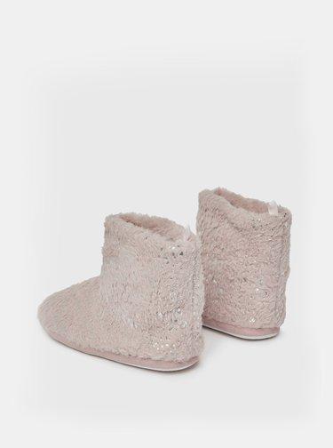 Starorůžové vzorované papuče Dorothy Perkins