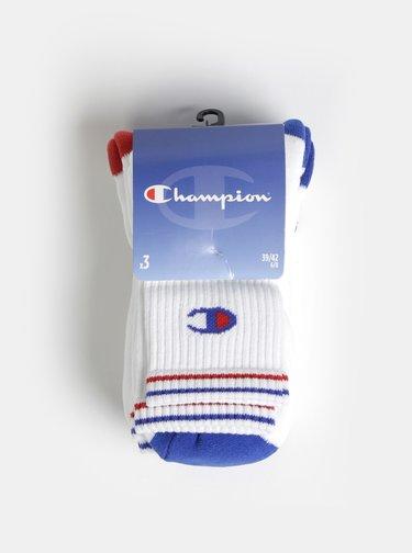 Sada troch párov bielych ponožiek Champion