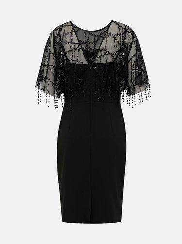 Černé pouzdrové šaty s flitry Dorothy Perkins