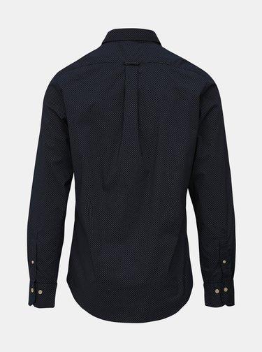 Tmavomodrá pánska vzorovaná slim fit košeľa GANT
