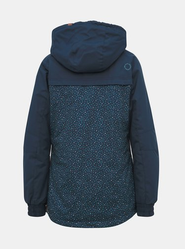Modrá dámská vzorovaná zimní bunda Alife and Kickin Black Mamba B