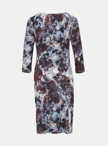 Bielo-vínové vzorované šaty Blue Seven