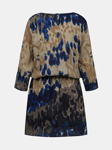 Modro-béžové vzorované šaty Blue Seven