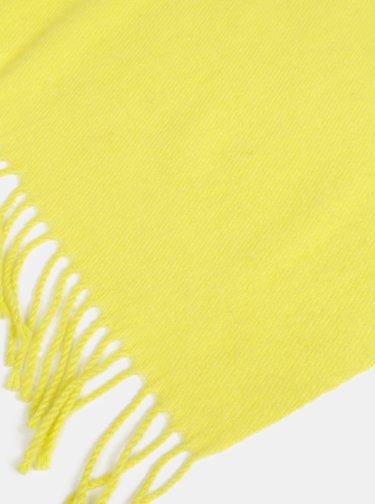Žlutá šála s příměsí vlny Pieces