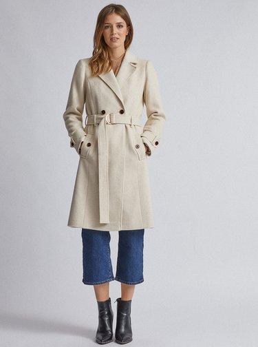 Krémový kabát Dorothy Perkins