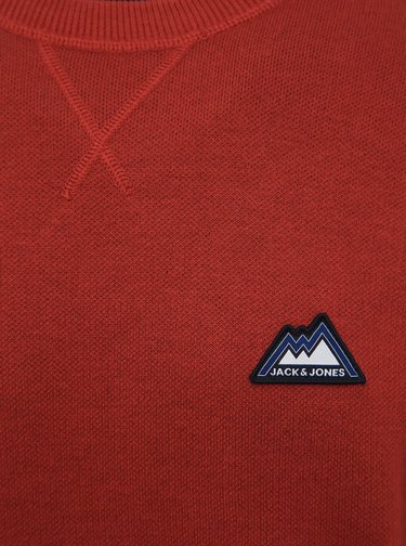 Červený svetr s nášivkou Jack & Jones Double