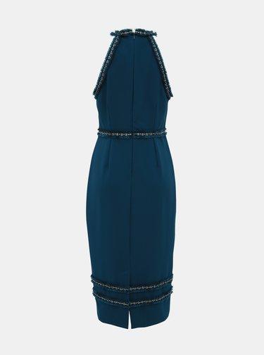 Petrolejové púzdrové šaty Dorothy Perkins