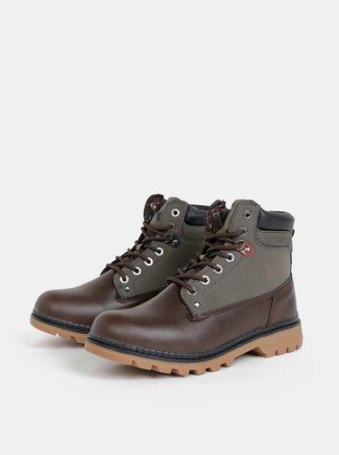 Tmavě hnědé pánské kotníkové boty U.S. Polo Assn. Vlad1
